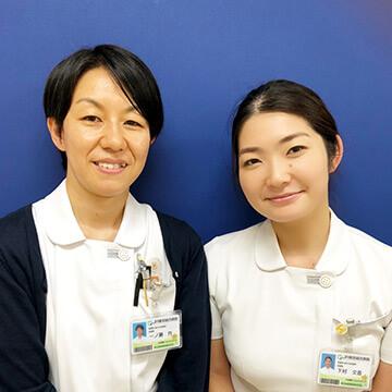 卒業生 一ノ瀬 さんと下村 さん写真